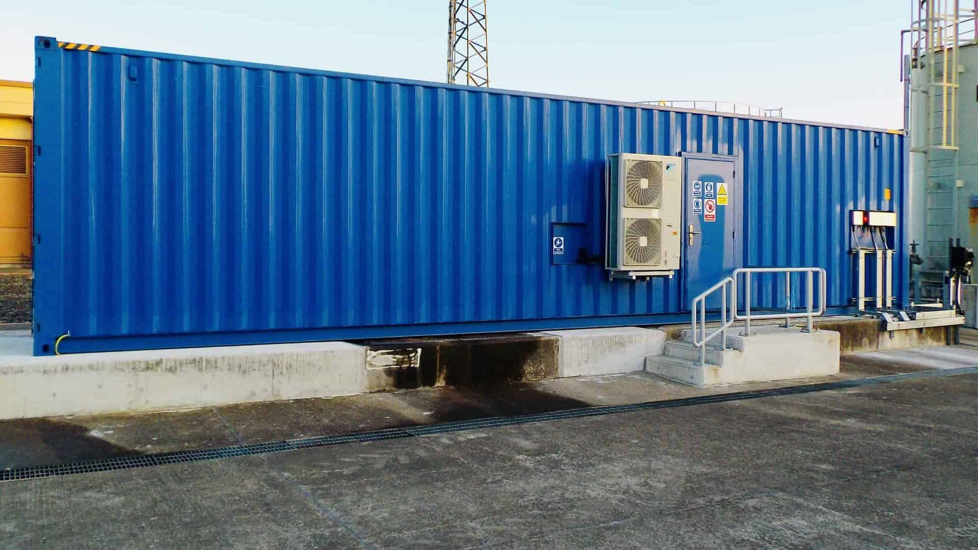 water treatment system in shipping container